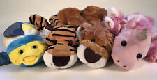 Hand Puppets LOT Of 4 Caltoy Dreams Unicorn Lion Tiger Fish Educational Play