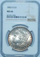 1883 O NGC MS66 Morgan Silver Dollar