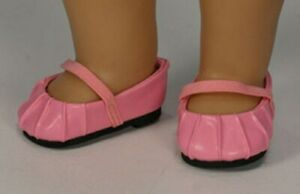 """New """"Pink Ballet Flats"""" fits 15"""" American Girl Bitty Baby - by Sophia's"""