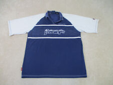 Johnny Blaze Polo Shirt Adult 2XL XXL Blue White Method Man Wu Tang Clan Men 90s