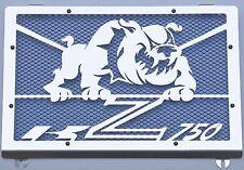 cache / Grille de radiateur inox poli Kawasaki Z750 04>06 Bulldog + grill. bleu