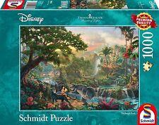 Schmidt Spiele 59473 Disney Jungle Book Jigsaw Puzzle Thomas Kinkade 1000 pieces