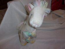 """Vintage Eden Giraffe Musical Head Neck Wind-Up Plush pastel 10"""" baby toy yarn"""