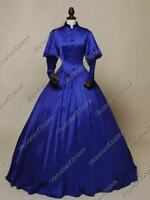 Victorian Gothic Royal Vintage Dress Ball Gown Steampunk Clothing Wear N 006 L
