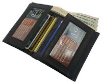 AG Wallets Mens Leather Bifold Slim Wallet Card Cash And ID Holder with Gift Box