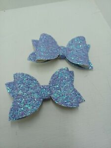 2    lavender colour Hairbows  from 0.99p BARGAIN   .......NEW COLOUR