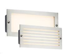5x Knightsbridge LED Bricklight Outdoor Brick Wall Light White Brushed Steel