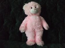 """15"""" BABW bear Shaggy pink plush with white underneath pink"""