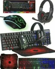Orzly RX250 Wired Keyboard and Mouse with Gaming Headset - Black