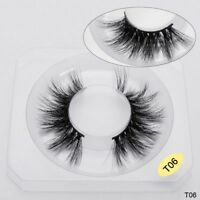 New 1Pair 100% Luxury Mink Hair Long False Eyelashes 3D Natural Thick Lashes HOT