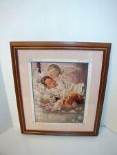 Home Interior Picture Angel Kissing Sleeping Girl Toys Teddy Bear Nursery 19x16