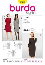 BURDA SEWING PATTERN LADIES Plain artless basic DRESS 10 - 28 7137