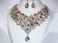 bridal rhinestone jewelry set,pageant necklace,drag queen jewelry,statement set