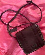 "COACH Chocolate Brown Nylon Leather Crossbody Purse 6"" X 6"""