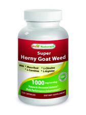 Best Naturals Horny Goat Weed with Maca Root, 120 Caps