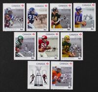 CANADA 2012 #2568i-2576i Football, Grey Cup complete set of 9 die-cut stamps MNH