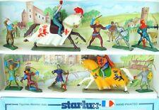 10x Starlux France 1:32 MEDIEVAL KNIGHTS & TOURNAMENT KNIGHT Figure Set MIB`70!
