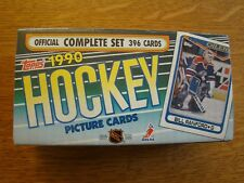 1990 Topps NHL Hockey Cards Complete Set, 396 Picture Cards