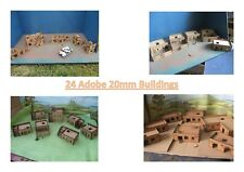 20mm 24  Adobe African or eastern Europe Town Scenery building Laser Cut MDF