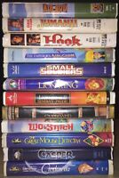 Classic VHS / VCR Tapes 1980s/1990s Disney, Kid's, Family NOT DVD MOVIES Lot G