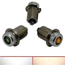 P13, 5 Cree LED - 6V 12V 24V - Torch Bulb Lamp Light Bulb White Cold White