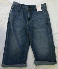 Ladies size 12 wide leg cropped blue/indigo jeans by M&S *NEW+TAGS*