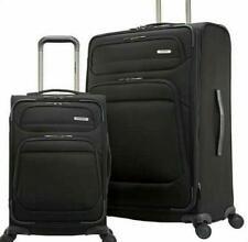 Samsonite Epsilon NXT 2 Piece Suitcase Luggage Set 4 Wheel Spinner Black