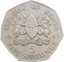 Kenya 5 Shillings 1985 KM#23 Daniel Toroitich Arap Moi (4507)