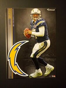 NFL San Diego Chargers Phillip Rivers Fathead Decal Tradeables Vintage