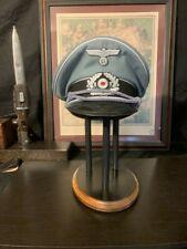 HELMET STAND - Military- German,US, WWI, WWII,BLACK w/WOOD TRIM-  - Mod.# BFC-3