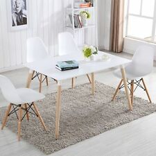 2/4/6 Dining Chairs & Rectangle Table White Eiffel DSW Retro Design Wood Style