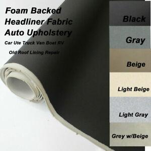 Car Headlining Roof Lining Hood Foam backed Upholstery Fabric Material Door Trim