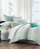 Echo Mykonos Sky White 100% Cotton FULL QUEEN Duvet Cover Mini Set 3pc $265