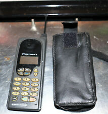 Vintage Motorola Profile/300 Cell Phone, battery (NG), 12 v Power Adapter, Case