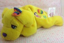 Vintage Lisa Frank Bean Bag Plush Beanie Candy Yellow Lab Dog Rainbow Heart