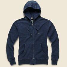 RRL Ralph Lauren Vintage Inspired Indigo Cotton Hoodie-MEN- XL