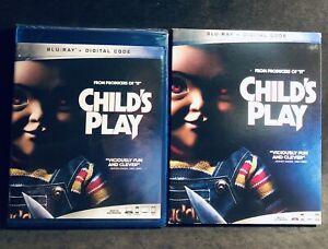 CHILD'S PLAY - Blu-ray Disc + Digital + Slip - HORROR - CHUCKY - Fast Ship - New