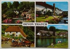 Devon Thatch Cockington Forge Croyde Village Bickleigh Rose 1999 Postcard (P301)