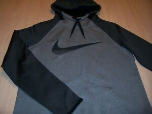 NIKE LONG SLEEVE GRAY/BLACK HOODIE BOYS SMALL 8-10 EXCELLENT CONDITION