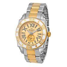 NEW Aquaswiss 62G0082 Men's Swiss Quartz Watch Gold Dial Steel Gold White Watch