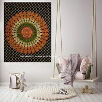 Indian Peacock Mandala Tapestry Wall Hanging Gypsy Cotton Poster Hippie Throw
