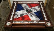 Dominican Fabric Flag Domino Table by Domino Tables by Art