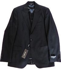 $1995 DOLCE & GABBANA Solid Black Blazer Jacket Sport Coat Size 48 Euro 38 US