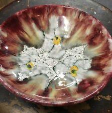 Murano Art Glass Bowl Candy Dish Footed MCM Italian Home Decor