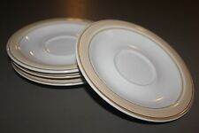 Haviland China Crowning Fashion Tawny 4 Sauceers