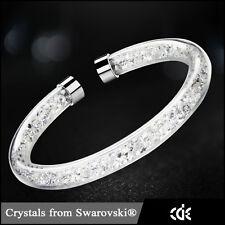 Luxus Armband mit Swarovski Kristallen Crystaldust Bracelet Weiß Edelstahl 2017!
