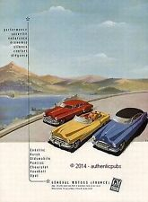 PUBLICITE AUTOMOBILE CADILLAC PONTIAC BUICK CHEVRELET GENERAL MOTORS DE 1950 AD