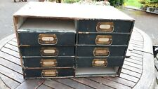 Vintage The Wallace wood storage drawers with metal handles