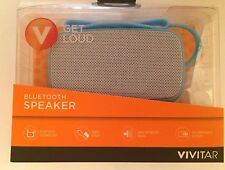 New Vivitar Bluetooth Speaker Get Loud Blue High Def Wrist Strap Android iPhone
