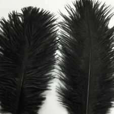 Handmade Accessory Party Feathers Jewelry Black 10pcs Ostrich Hair DIY Natural